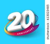 anniversary emblems 20... | Shutterstock .eps vector #613023485