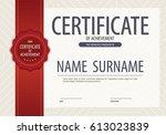 blank certified border template ... | Shutterstock .eps vector #613023839