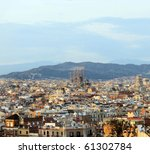 Panorama Of Barcelona And...