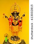 a statue of ganesha at some...   Shutterstock . vector #613032815