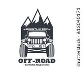 off road car logo illustration  ... | Shutterstock .eps vector #613040171