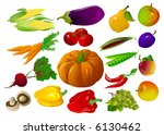 fruits and vegetables | Shutterstock . vector #6130462