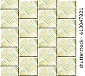 colorful zigzag striped tiles... | Shutterstock . vector #613047821
