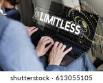 people working no end limitless | Shutterstock . vector #613055105
