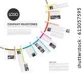vector infographic circular... | Shutterstock .eps vector #613057595