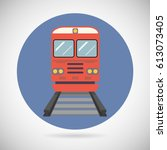 railway train transport... | Shutterstock . vector #613073405
