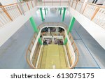 unoccupied floors of shopping... | Shutterstock . vector #613075175