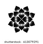 abstract black heart group... | Shutterstock .eps vector #613079291