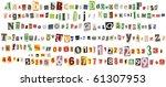 newspaper alphabet with numbers ... | Shutterstock . vector #61307953