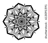 mandalas for coloring book.... | Shutterstock .eps vector #613091591