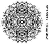 mandalas for coloring book.... | Shutterstock .eps vector #613091609