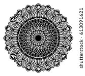 mandalas for coloring book.... | Shutterstock .eps vector #613091621