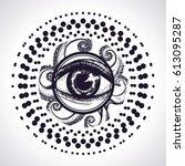 hand drawn detailed mandala...   Shutterstock .eps vector #613095287
