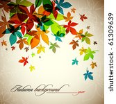 autumn background   falling... | Shutterstock .eps vector #61309639