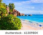 tropical beach source d'argent... | Shutterstock . vector #61309804