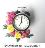 alarm clock in the morning ... | Shutterstock . vector #613108874