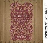 vector vintage items  label art ... | Shutterstock .eps vector #613109417