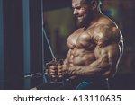 handsome caucasian athlete... | Shutterstock . vector #613110635