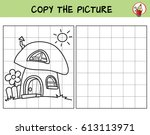 mushroom house. copy the... | Shutterstock .eps vector #613113971