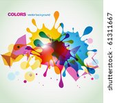 abstract eps10 colorful splash... | Shutterstock .eps vector #61311667