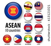 asean   association of... | Shutterstock .eps vector #613121021