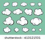 a set of clouds for comics...