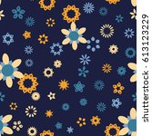 seamless floral pattern with...   Shutterstock .eps vector #613123229