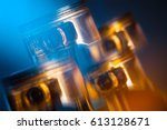 engine. pistons. | Shutterstock . vector #613128671
