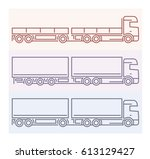 vehicle pictograms   tandems 5 | Shutterstock .eps vector #613129427