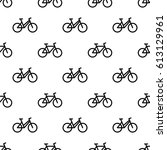 seamless pattern with bikes | Shutterstock .eps vector #613129961