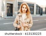 beautiful young slender girl in ...   Shutterstock . vector #613130225