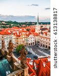 the view of the old town and... | Shutterstock . vector #613138817