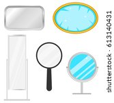 mirror  a set of mirrors. flat... | Shutterstock .eps vector #613140431