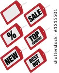 set of six different sale tags  ... | Shutterstock . vector #61315501