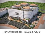 3d rendering and design   mall  ... | Shutterstock . vector #613157279