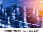 chess game on chess board... | Shutterstock . vector #613162139