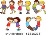 illustration of a kids on a... | Shutterstock .eps vector #61316215