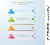 business  infographic  template ... | Shutterstock .eps vector #613168424