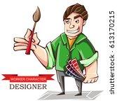 vector illustration of a... | Shutterstock .eps vector #613170215