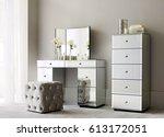 beautiful living room in modern ... | Shutterstock . vector #613172051