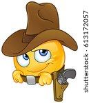 cowboy emoticon   Shutterstock .eps vector #613172057