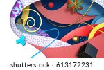 abstract colorful geometric... | Shutterstock . vector #613172231