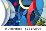 colorful geometric backdrop... | Shutterstock . vector #613172909