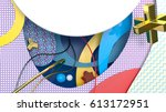 decorative composition with... | Shutterstock . vector #613172951
