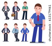 set of business people isolated ... | Shutterstock .eps vector #613179461