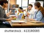 group of business persons... | Shutterstock . vector #613180085