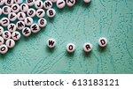 Word Word Made Of Round Plasti...