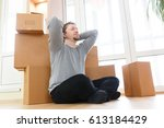 worried and frustrated young...   Shutterstock . vector #613184429