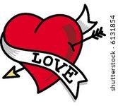 classic vintage tattoo heart | Shutterstock .eps vector #6131854