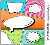 abstract creative concept comic ... | Shutterstock .eps vector #613186277